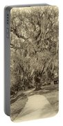 City Park New Orleans - Sepia Portable Battery Charger
