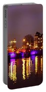 City Scenic From Amsterdam With The Blue Bridge In The Netherlands Portable Battery Charger