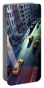 City Street Aerial New York Portable Battery Charger