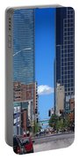 City Street Canyon Portable Battery Charger by Steve Karol