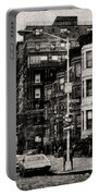 City Streets In Grunge Portable Battery Charger
