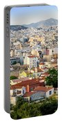 City View Of Old Buildings In Athens, Greece Portable Battery Charger