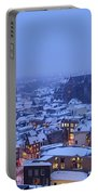 Cityscape Of Utrecht With The Dom Tower  In The Snow 13 Portable Battery Charger