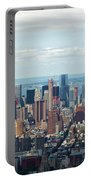 Cityscape View Of Manhattan, New York City. Portable Battery Charger