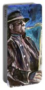 Clarence Clemons Portable Battery Charger by Clara Sue Beym