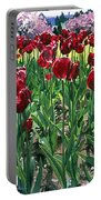 Claret Tulips  Portable Battery Charger