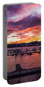 Clarkston Marina At Sunset Portable Battery Charger