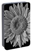 Classic Black And White Sunflower Portable Battery Charger