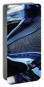Classic Car Chrome Abstract Reflected Grill Portable Battery Charger