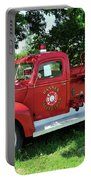 Classic Fire Truck Portable Battery Charger