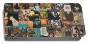 Classic Rock Lp Collage 1 Portable Battery Charger