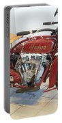 Classic Vintage Indian Motorcycle Red   # Portable Battery Charger