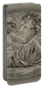 Classical Greek Woman Fresco Portable Battery Charger by Bill Cannon