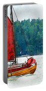 Classical Wooden Boat Tacksamheten Portable Battery Charger