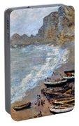 Claude Monet: Etretat, 1883 Portable Battery Charger