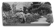 Claude Monet In His Garden Portable Battery Charger