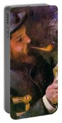 Claude Monet Reading 1872 Portable Battery Charger