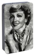 Claudette Colbert Vintage Hollywood Actress Portable Battery Charger