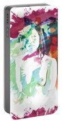 Claudia Nude Fine Art Painting Print In Sensual Sexy Color 4887. Portable Battery Charger