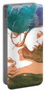 Claudia Nude Fine Art Painting Print In Sensual Sexy Color 4893. Portable Battery Charger