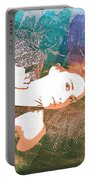 Claudia Nude Fine Art Painting Print In Sensual Sexy Color 4895. Portable Battery Charger