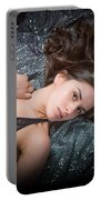 Claudia Nude Fine Art Print In Sensual Sexy Color 4884.02 Portable Battery Charger