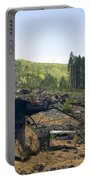 Clearcut Logging Site Portable Battery Charger