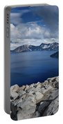 Clearing Storm At Crater Lake Portable Battery Charger