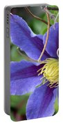 Clematis Blossom Portable Battery Charger