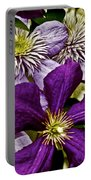 Purple Clematis Flower Vines Portable Battery Charger
