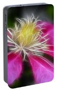 Clematis In Pink Portable Battery Charger