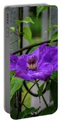 Clematis In Purple Portable Battery Charger