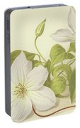 Clematis Jackmanni Alba Portable Battery Charger
