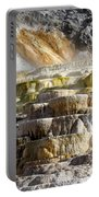 Cleopatra Terrace In Yellowstone National Park Portable Battery Charger