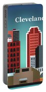 Cleveland Ohio Horizontal Skyline Portable Battery Charger
