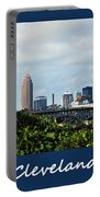 Cleveland Poster Portable Battery Charger