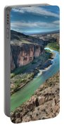 Cliff View Of Big Bend Texas National Park And Rio Grande  Portable Battery Charger