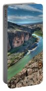 Cliff View Of Big Bend Texas National Park And Rio Grande Text Big Bend Texas Portable Battery Charger