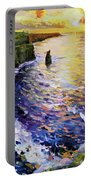 Cliffs Of Moher At Sunset Portable Battery Charger