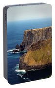 Cliffs Of Moher Ireland View Of Aill Na Searrach Portable Battery Charger