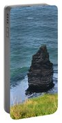 Cliff's Of Moher Needle Rock Formation In Ireland Portable Battery Charger