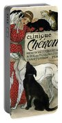 Clinique Cheron - Vintage Clinic Advertising Poster Portable Battery Charger