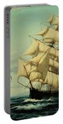Clipper Ships Racing To Port Portable Battery Charger