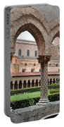 Cloister Of The Abbey Of Monreale. Portable Battery Charger