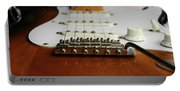 Close Up Electric Guitar Portable Battery Charger