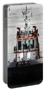 Close Up Of A Tugboat In Venice Harbor Portable Battery Charger