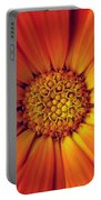 Close Up Of An Orange Daisy Portable Battery Charger
