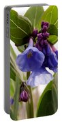 Close-up Of Virginia Bluebells Portable Battery Charger