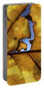 Close Up Of Yellow Leaf Portable Battery Charger