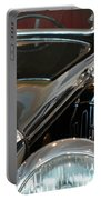 Close Up On Vintage Black Shining Car Portable Battery Charger